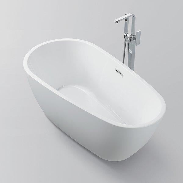"Vanity Art 59"" x 30"" Freestanding Soaking Bathtub, VA6515"