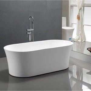 "Vanity Art 63"" x 29.5"" Freestanding Soaking Bathtub, VA6809"