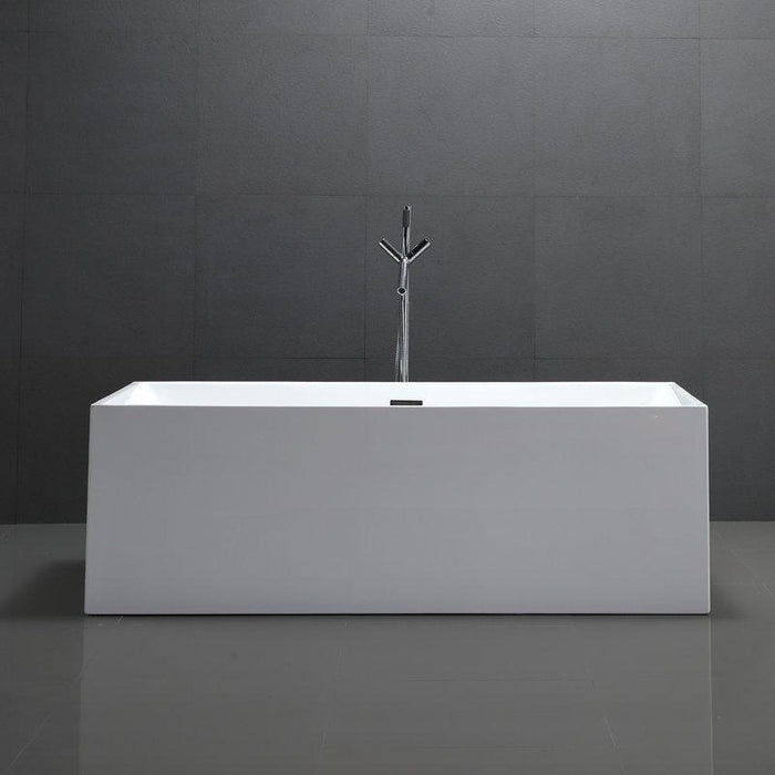 "Vanity Art 66.5"" x 31.5"" Freestanding Soaking Bathtub, VA6813B-L"