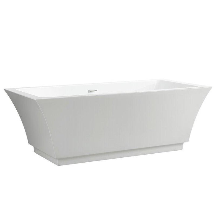 "Vanity Art 66.5"" x 31.5"" Freestanding Soaking Bathtub, VA6817-L"