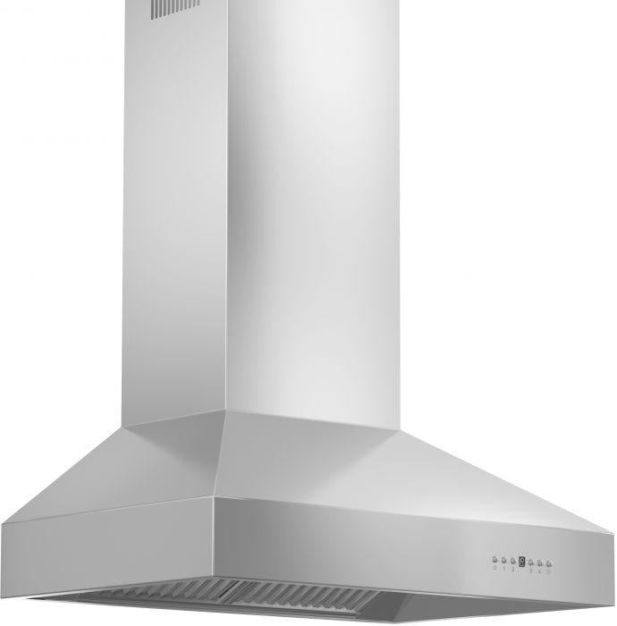ZLINE 30 in. Professional Wall Mount Range Hood in Stainless Steel with Crown Molding (667CRN-30)