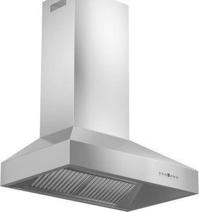 ZLINE 36 in. Professional Wall Mount Range Hood in Stainless Steel with Crown Molding (667CRN-36) test