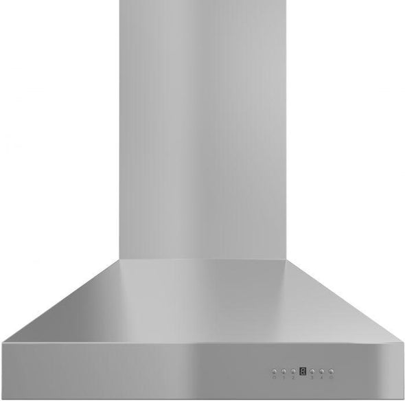 ZLINE 42 in. Professional Wall Mount Range Hood in Stainless Steel with Crown Molding (667CRN-42)