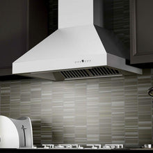"ZLINE 42"" Professional Ducted Wall Mount Range Hood in Stainless Steel with Crown Molding, 667CRN-42"