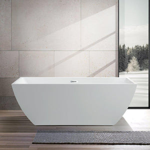 "Vanity Art 67"" x 31.5"" Acrylic Freestanding Soaking Bathtub, VA6821-L"