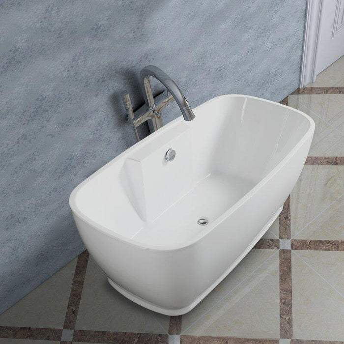"Vanity Art 67"" x 31"" Freestanding Soaking Bathtub, VA6835-L"