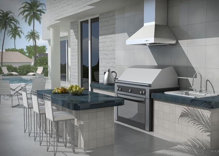 "ZLINE 42"" Outdoor Stainless Steel Wall Range Hood, 667-304-42"