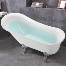 Vanity Art Freestanding White Acrylic 69-Inch Claw Foot Soaking Bathtub, VA6310-L