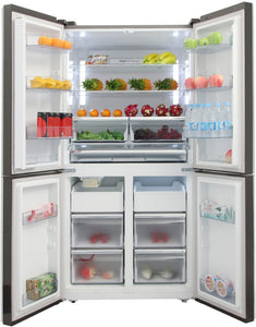 "Thor Kitchen 36"" 22.60 cu. ft. French Door Refrigerator in Stainless Steel, HRF3603F test"