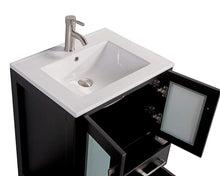 "Vanity Art 72"" Double Sink Vanity Cabinet with Ceramic Sink & Mirror - Espresso, VA3024-72E"
