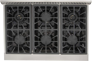 "Kucht Professional 36"" 5.2 cu ft. Natural Gas Range with Tuxedo Black Knobs, KRG3618U-K test"