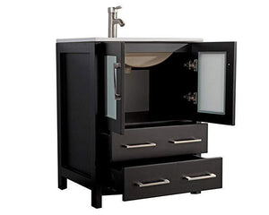 "Vanity Art 48"" Single Sink Vanity Cabinet with Ceramic Sink & Mirror - Espresso, VA3024-48E test"