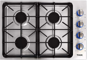 Thor 30 in. Drop-in Natural Gas Cooktop in Stainless Steel, TGC3001