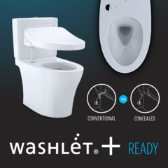 Toto UltraMax 1.28 GPF Elongated One Piece Toilet Electronic Bidet Seat, MW6042034CEFG#01