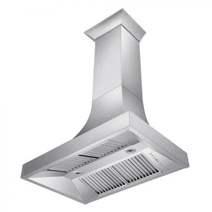 "ZLINE 36"" Designer Series Snow Stainless Finish Indoor Wall Range Hood, 8632S-36"