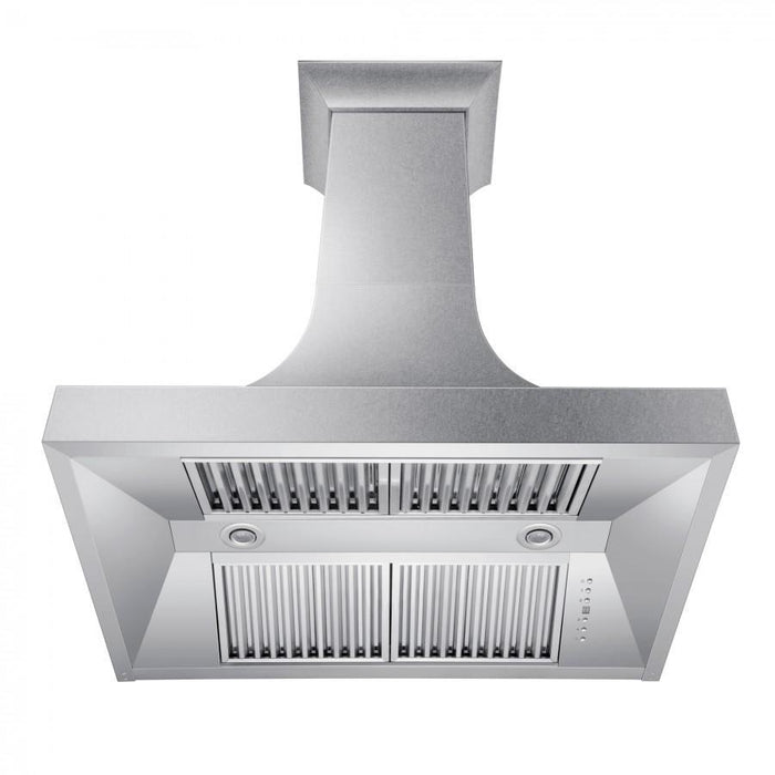"ZLINE 30"" Designer Series DuraSnow® Stainless Finish Indoor Wall Range Hood, 8632S-30"