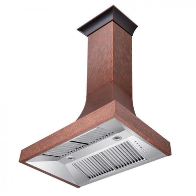 "ZLINE 36"" Designer Series Hand-Hammered Copper Finish Wall Range Hood, 8632H-36"
