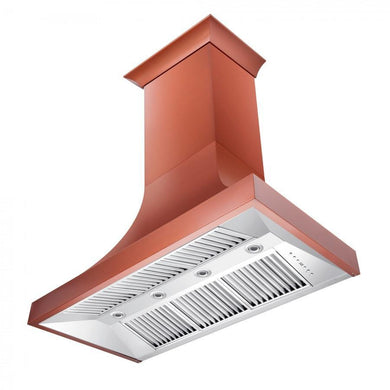 "ZLINE 48"" Designer Series Copper Finish Wall Range Hood, 8632C-48"