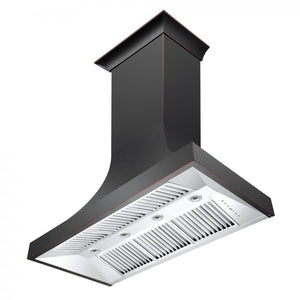 "ZLINE 48"" Designer Series Oil-Rubbed Bronze Wall Range Hood, 8632B-48"