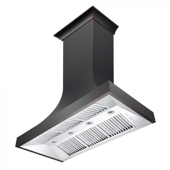 "ZLINE 42"" Designer Series Oil-Rubbed Bronze Wall Range Hood, 8632B-42"