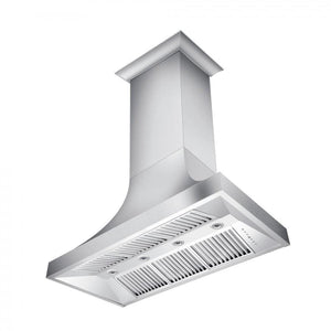 "ZLINE 48"" Designer Series Snow Stainless Finish Indoor Wall Range Hood, 8632S-48"