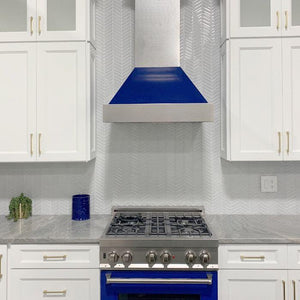 "ZLINE 36"" DuraSnow® Finish Range Hood with Blue Gloss Shell, 8654BG-36 test"