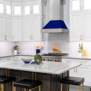 "ZLINE 42"" DuraSnow® Finish Range Hood with Blue Gloss Shell, 8654BG-42 test"