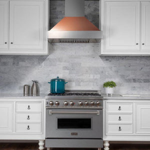 "ZLINE 36"" DuraSnow® Finish Range Hood with Copper Shell, 8654C-36 test"