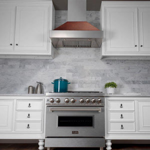 "ZLINE 36"" DuraSnow® Finish Range Hood with Hand-Hammered Copper Shell, 8654HH-36 test"