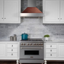 "ZLINE 36"" DuraSnow® Finish Range Hood with Hand-Hammered Copper Shell, 8654HH-36"