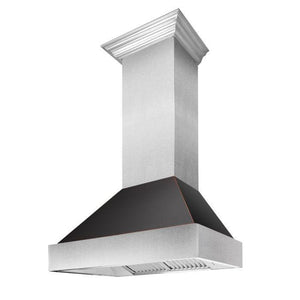 "ZLINE 30"" Ducted DuraSnow® Stainless Steel Range Hood with Oil Rubbed Bronze Shell, 8654ORB-30 test"