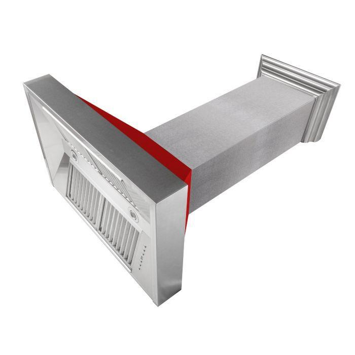 "ZLINE 36"" DuraSnow® Finish Range Hood with Red Matte Shell, 8654RM-36"