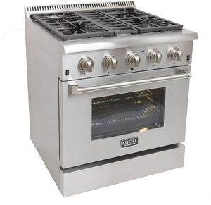 "Kucht Professional 30"" Propane Gas Burner/Electric Oven Range in Stainless Steel with Silver Knobs, KRD306F/LP-S test"