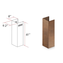 "ZLINE 61"" Copper Chimney Extension for Ceilings up to 12.5 ft, 8KBH-E"