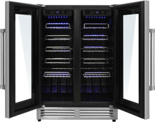 Thor Kitchen 42 Bottle Dual Zone Built-in Wine Cooler, TWC2402