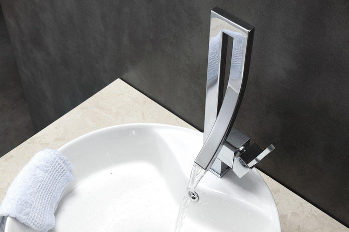 KubeBath Aqua Elegance Single Lever Wide Spread Faucet - Chrome, AFB001