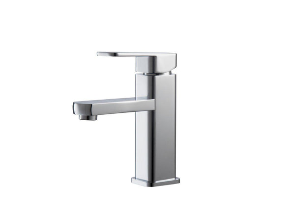 KubeBath Aqua Soho Single Hole Mount Bathroom Vanity Faucet - Chrome, AFB038