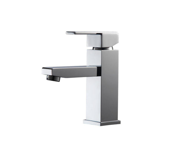 KubeBath Aqua Piazza Single Lever Bathroom Vanity Faucet - Chrome, AFB041