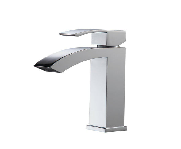 KubeBath Aqua Balzo Single Lever Wide Spread Bathroom Vanity Faucet - Chrome, AFB053
