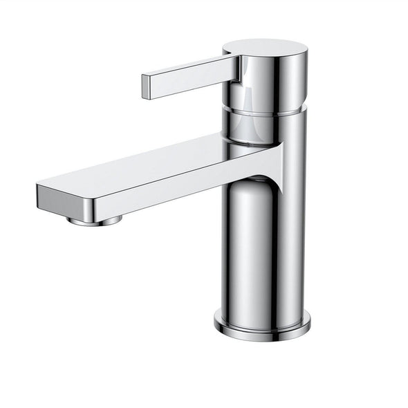 KubeBath Aqua Sotto Single Lever Bathroom Vanity Faucet - Chrome, AFB10901