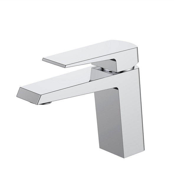 KubeBath Aqua Chiaro Single Lever Bathroom Vanity Faucet - Chrome, AFB11701