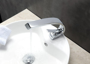 KubeBath Aqua Arcco Single Lever Modern Bathroom Vanity Faucet - Chrome, AFB1638CH test