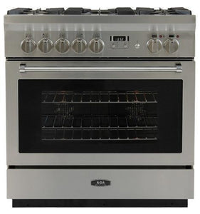 "AGA Professional Series 36"" Stainless Steel 4.9 cu.ft. Gas Burner/Electric Oven Range, AMPRO36DF-SS"