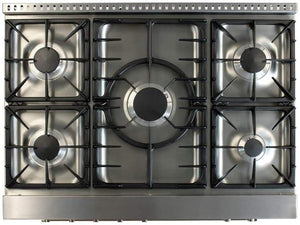 "AGA Professional Series 36"" Gas Burner/Electric Oven Stainless Steel Range, AMPRO36DF-SS test"