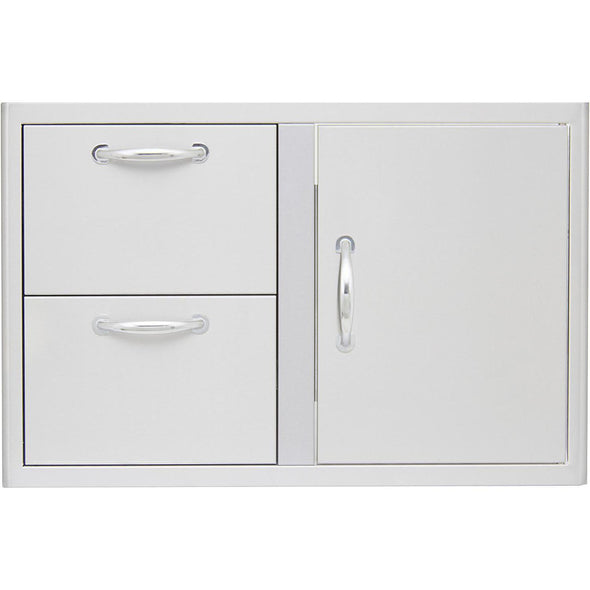 Blaze 32 Inch Access Door & Double Drawer Combo, BLZ-DDC-R