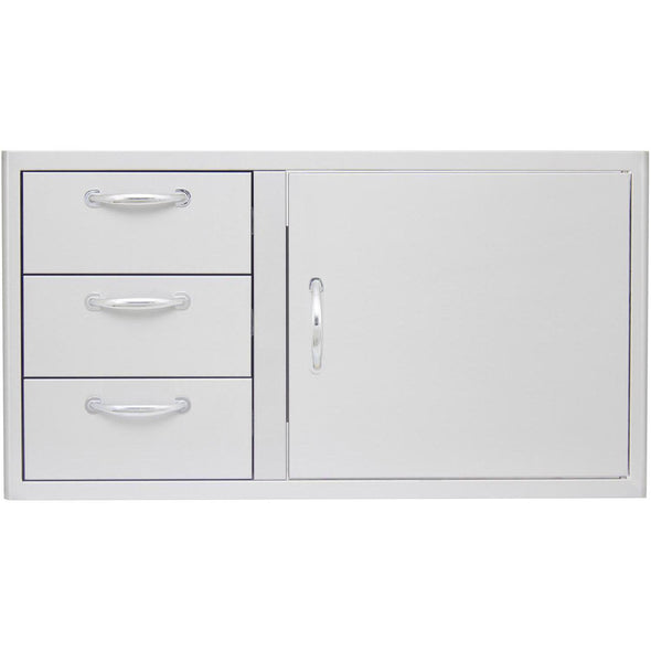 Blaze 39-Inch Access Door & Triple Drawer Combo, BLZ-DDC-39