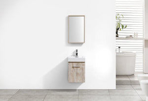 "Bliss 16"" Wall Mount Modern Bathroom Vanity - Nature Wood test"