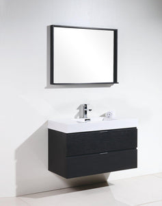 "Bliss 40"" Wall Mount Modern Bathroom Vanity - Black test"