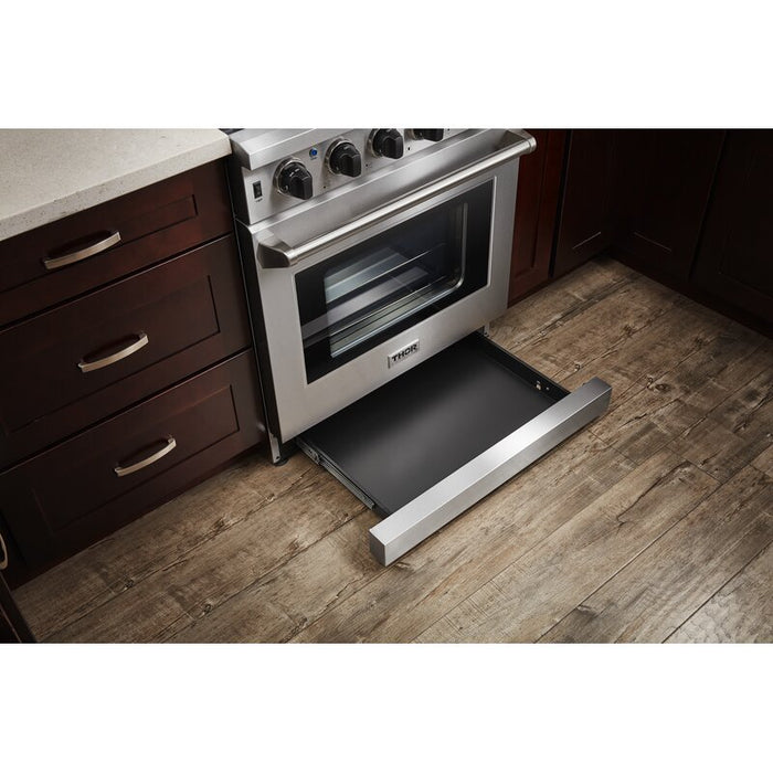 "Thor Kitchen 30"" 4.55 cu. ft. Professional Natural Gas Range in Stainless Steel, LRG3001U"