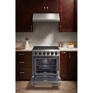 Thor Kitchen 30 in. 4.55 cu. ft. Professional Natural Gas Range in Stainless Steel, LRG3001U test